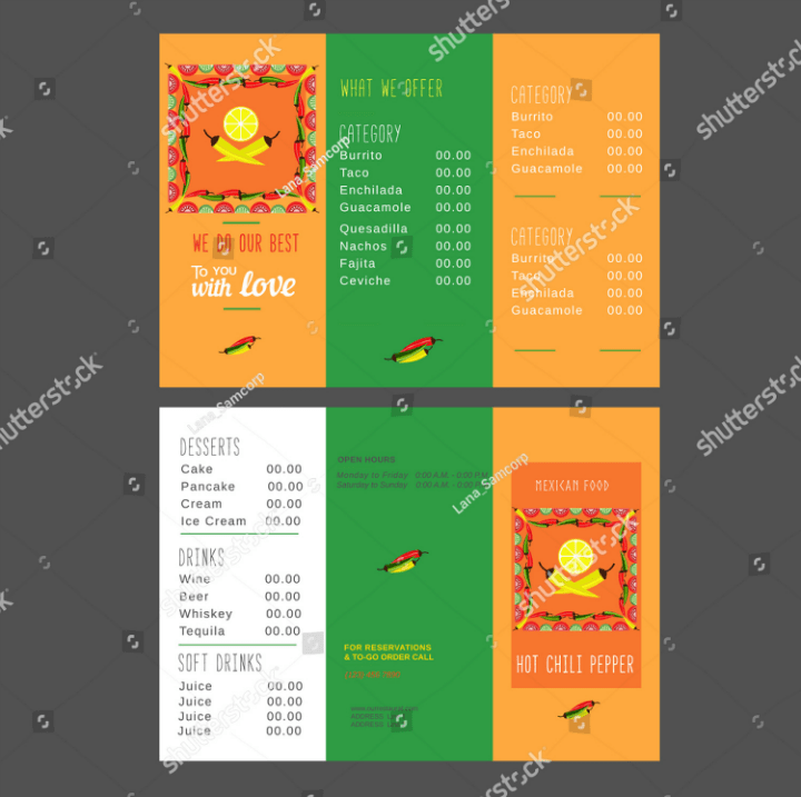 11 Restaurant Take Out Brochure Templates Free