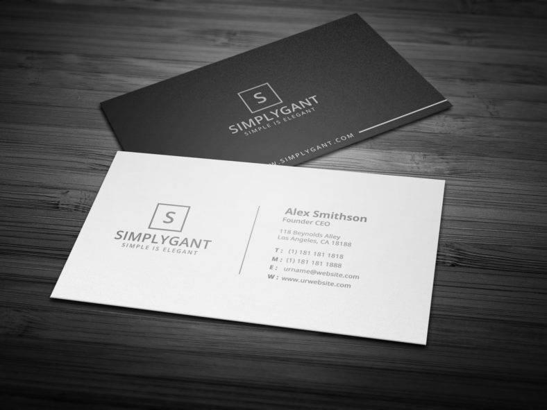 20 Sleek Business Card Templates  Word AI PSD  Free  Premium Templates
