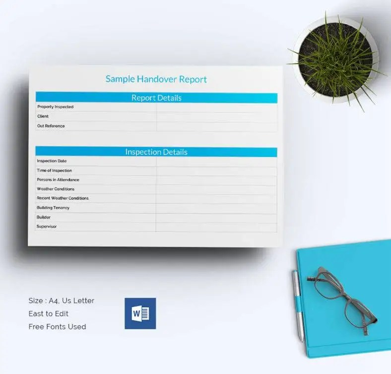 25+ Free Handover Report Templates - Word. PDF   Free & Premium Templates