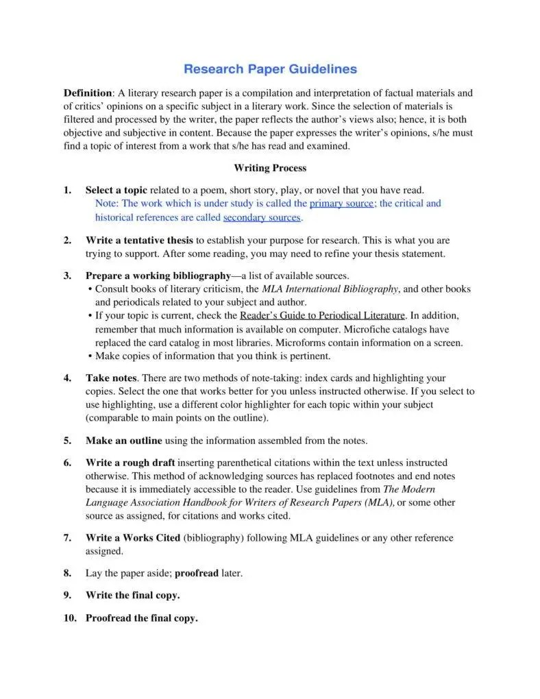 Importance Of Having A Research Paper Outline PDF Free & Premium