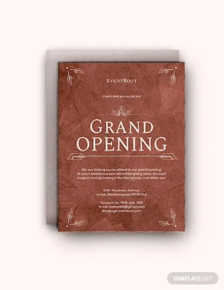 16 restaurant grand opening invitation