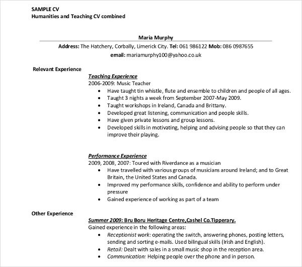 how to write job experience on resume
