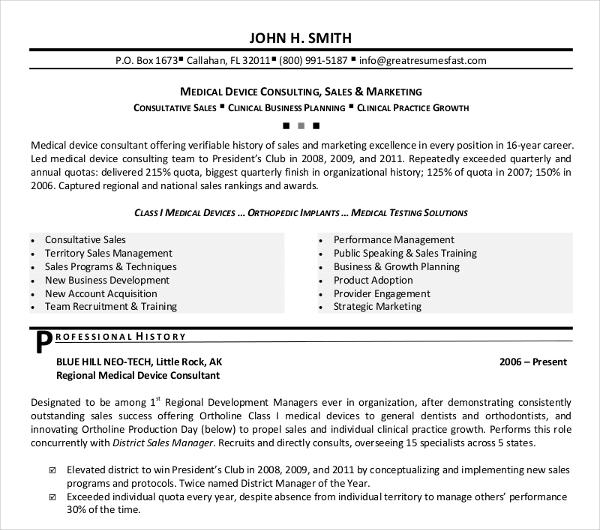 15 Best Sales Resume Templates  PDF DOC  Free  Premium Templates