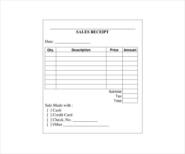 20 Printable Cash Receipt Templates PDF Word Free