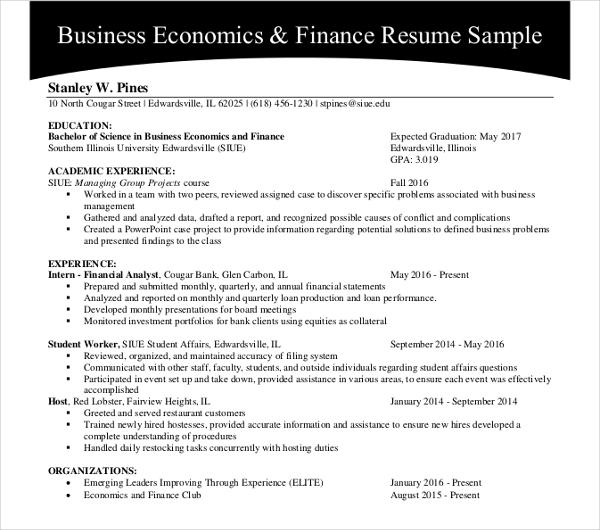 resume writing sample pdf