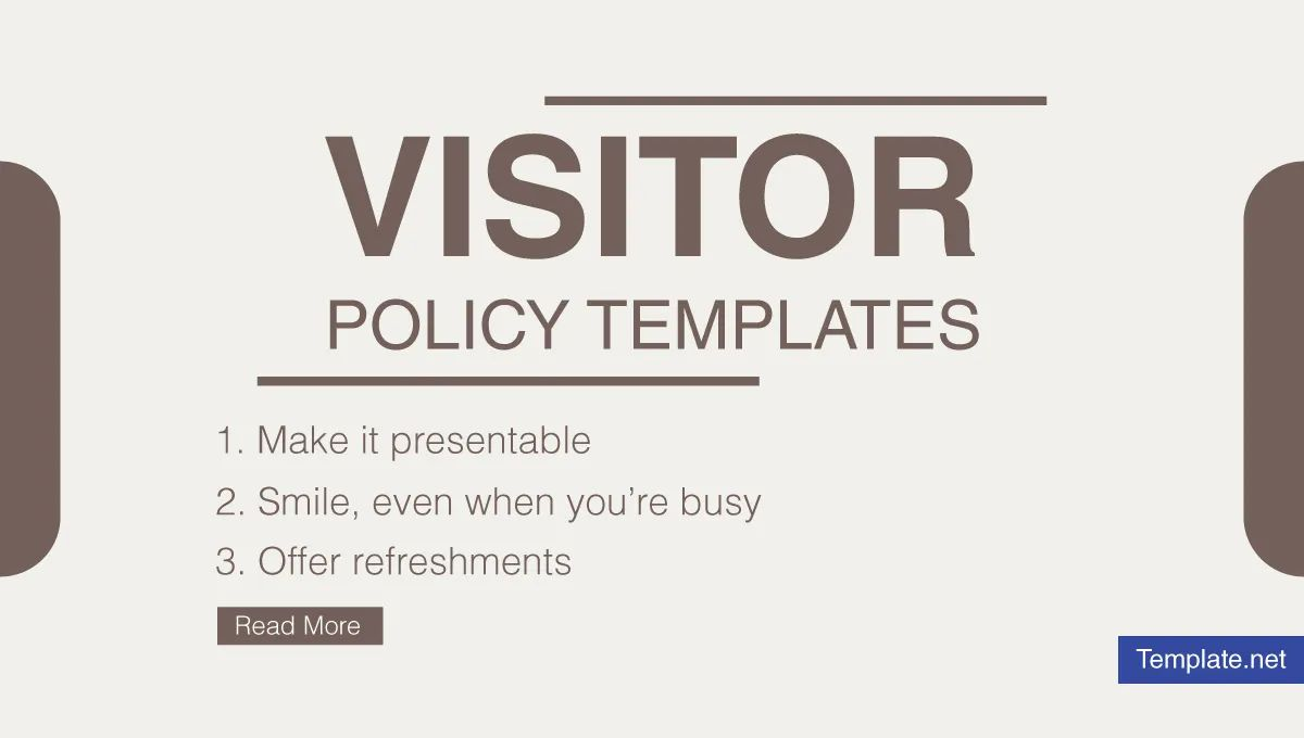 10 visitor policy templates