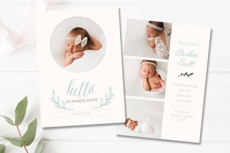 17+ Birth Announcement Card Designs & Templates - PSD, AI | Free ...