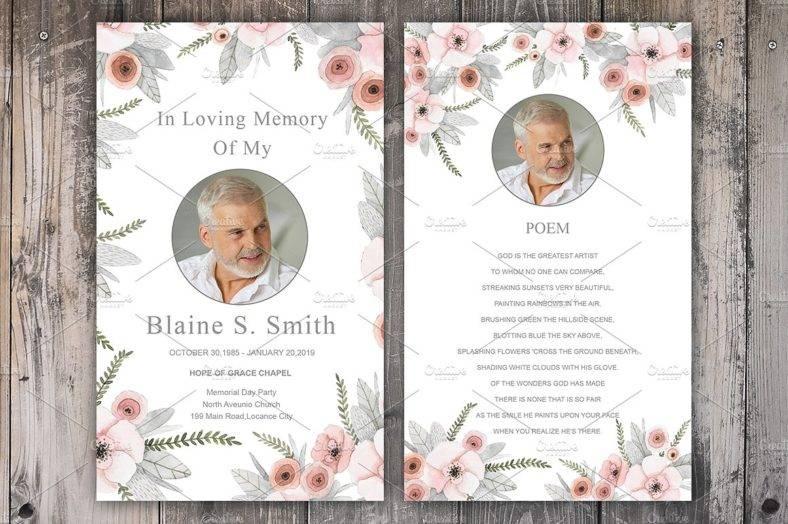 Sample Funeral Memory Cards Spanish