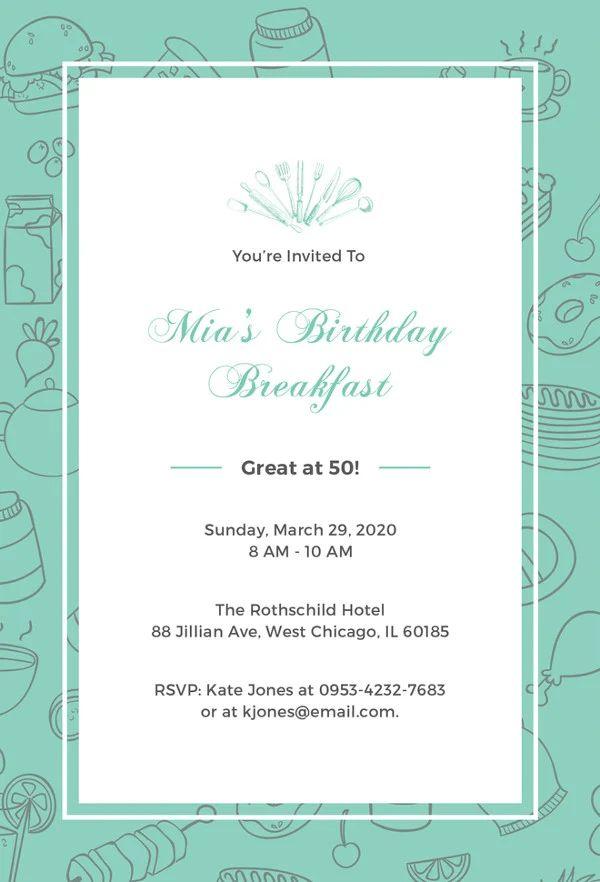 birthday invitation templates