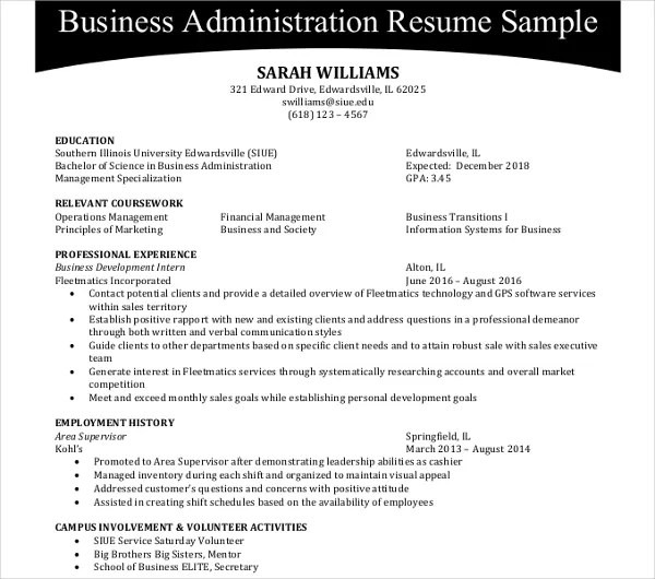 25 Administration Resume Templates PDF DOC Free