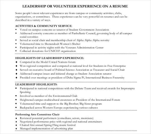 resume for nursing home volunteer