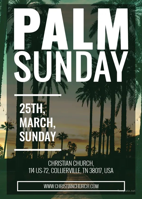 11 Ultimate Palm Sunday Church Template Collections PSD Free Amp Premium Templates