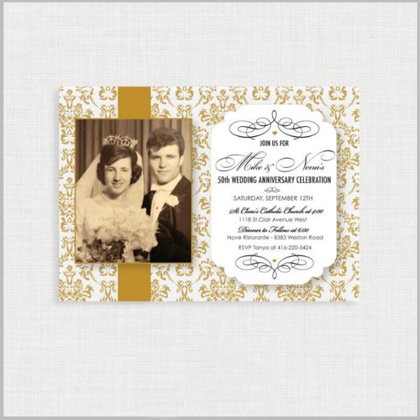 32 50th Wedding Anniversary Invitation