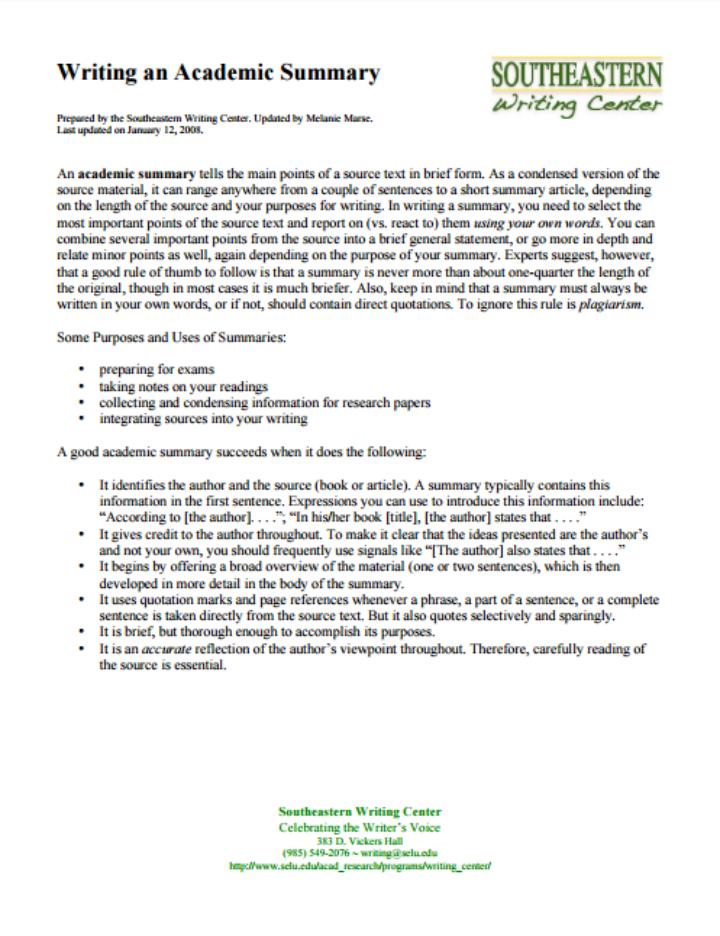 29 Useful Summary Templates  PDF  Free  Premium Templates
