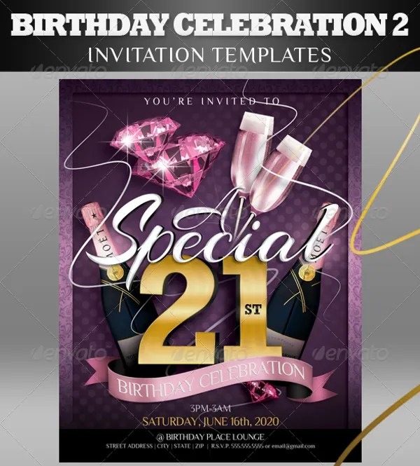 7 21st birthday invitation designs