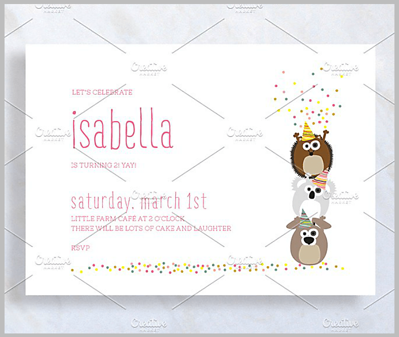 confetti invitation designs templates