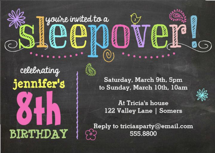 sleepover invitations templates