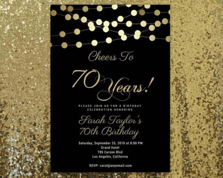 15 Golden Birthday Card Templates Free & Premium Templates