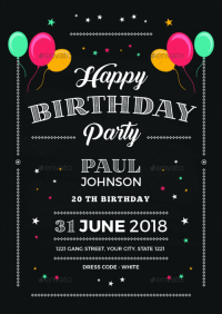 14+ Creative Chalkboard Birthday Invitation Templates ...