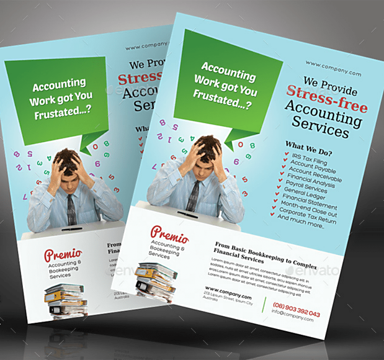 15 Accounting & Bookkeeping Services Flyer Templates