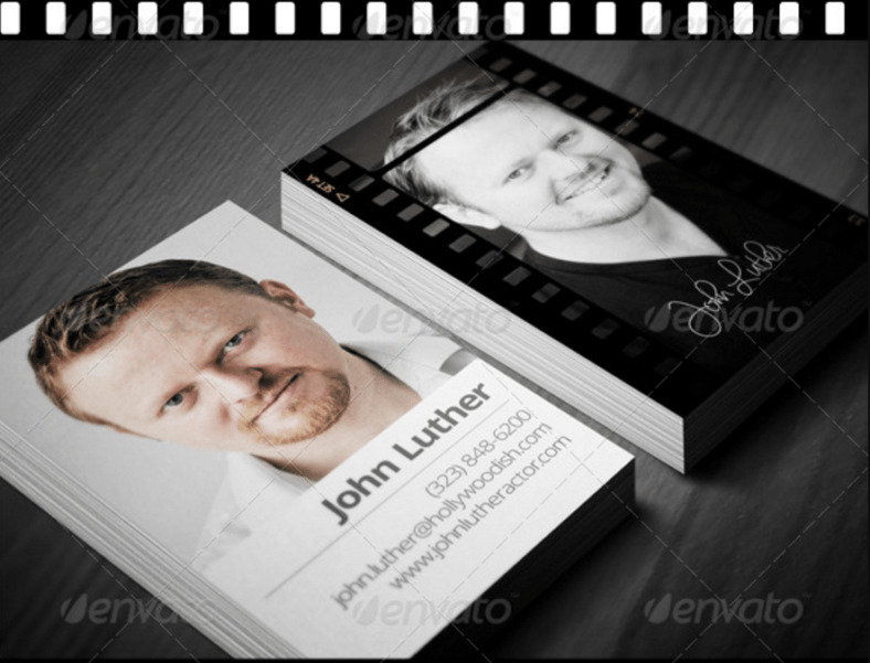 15 Actor Business Card Templates Word AI PSD Publisher Free Amp Premium Templates