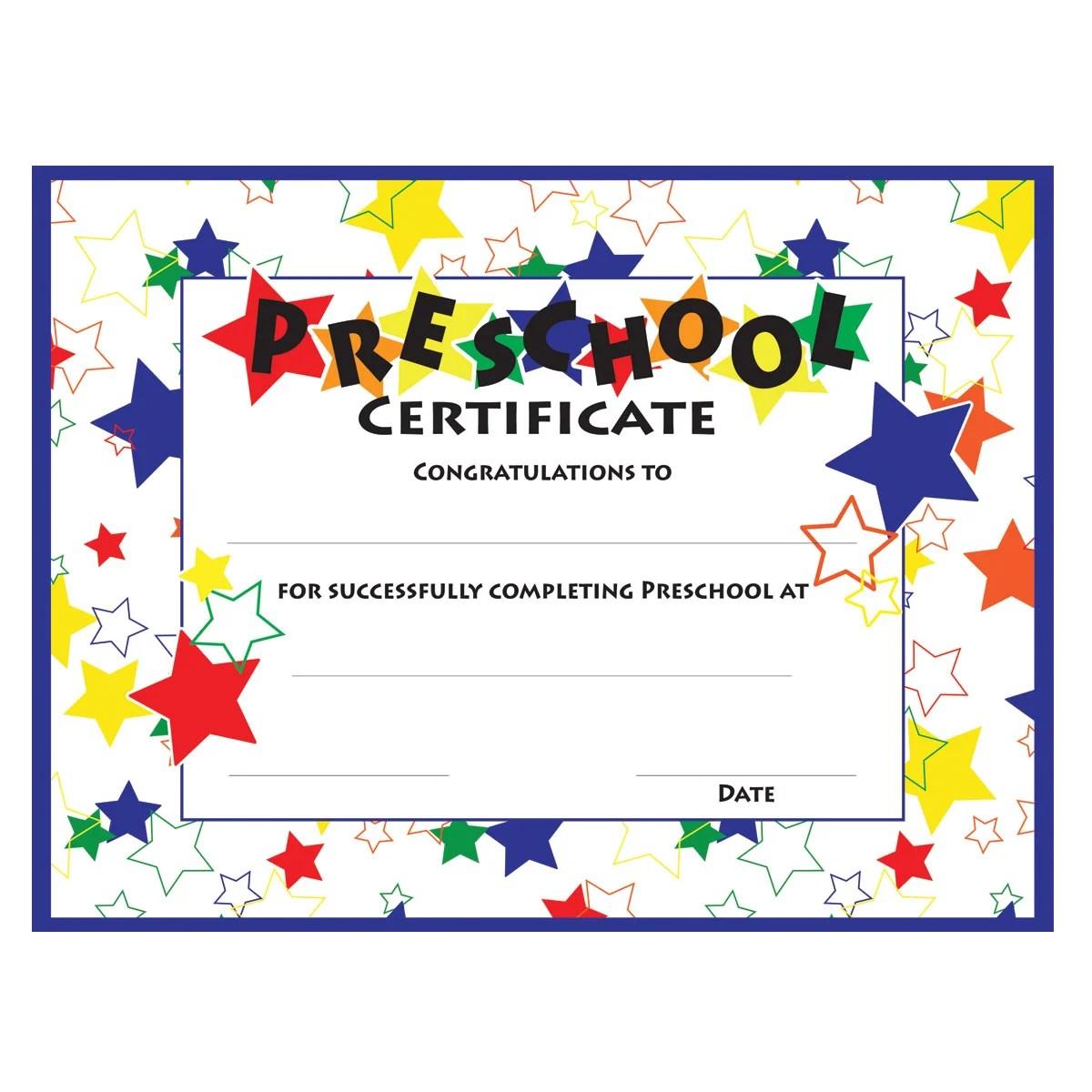 11 Preschool Certificate Templates