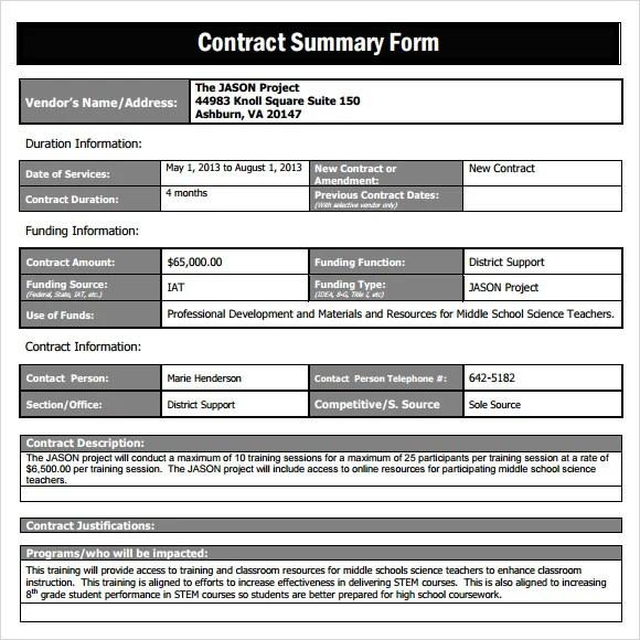 27 Sample Summary Templates PDF DOC Free & Premium
