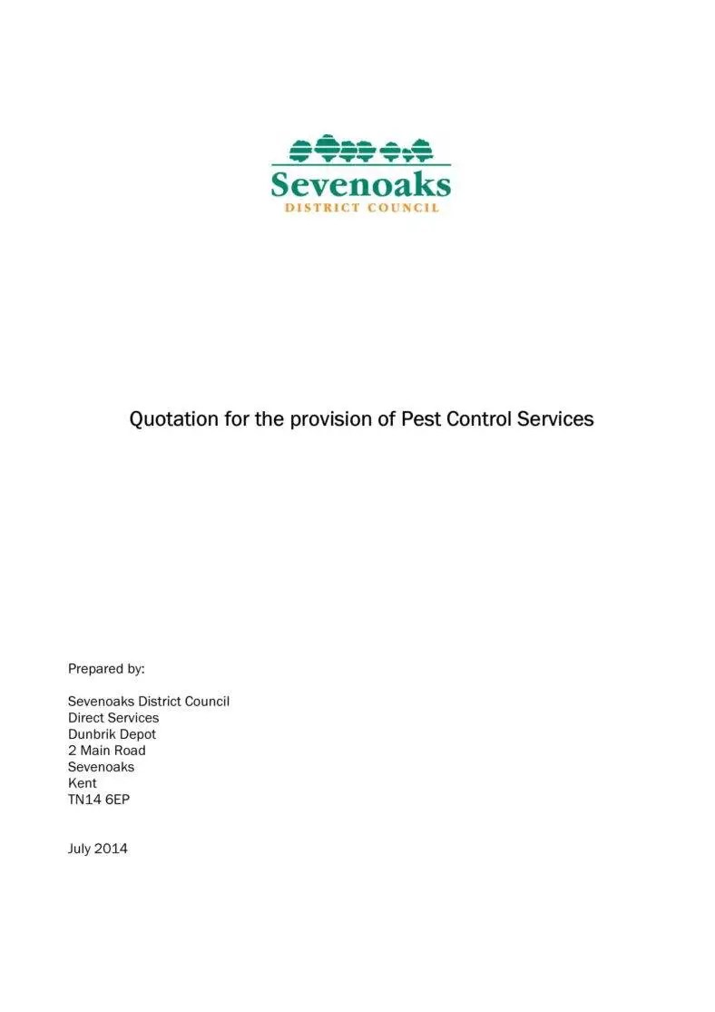 Pest Control Service Quote Template