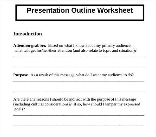9 Presentation Outline Templates