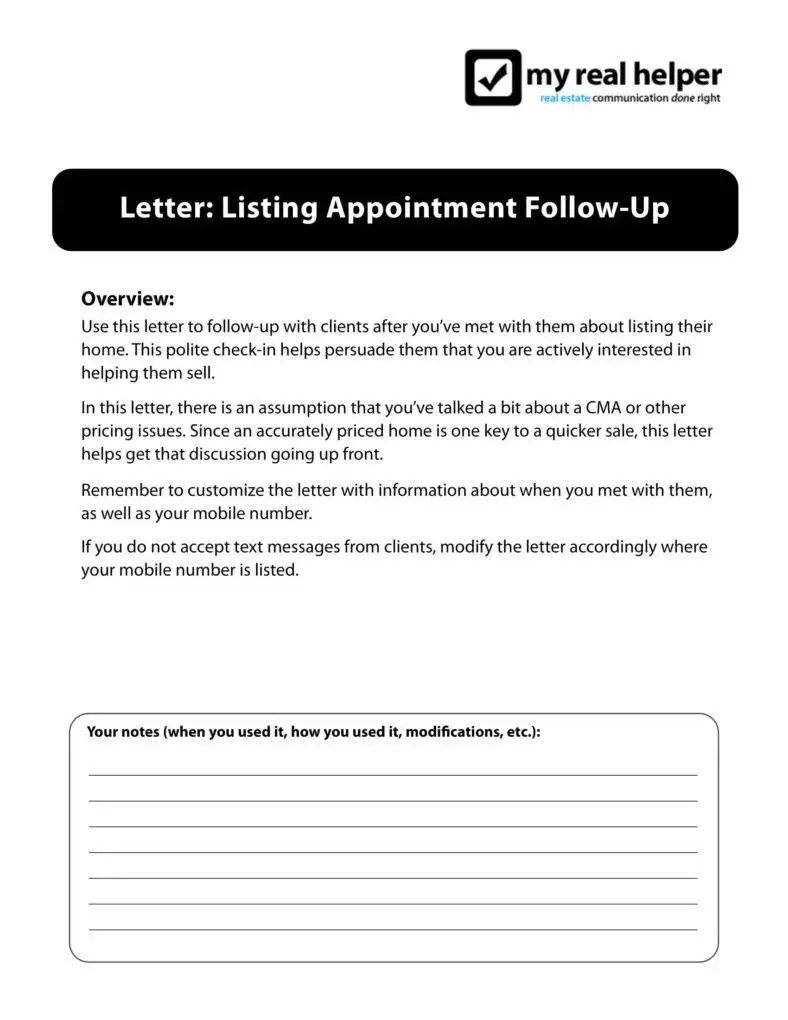 4+ Real Estate Follow Up Letter Templates - PDF | Free & Premium ...