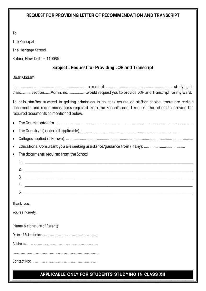 12 Request Letter to a Principal Templates PDF  Free  Premium Templates