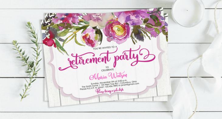 18+ Retirement Invitation Designs & Templates - PSD. AI   Free & Premium Templates