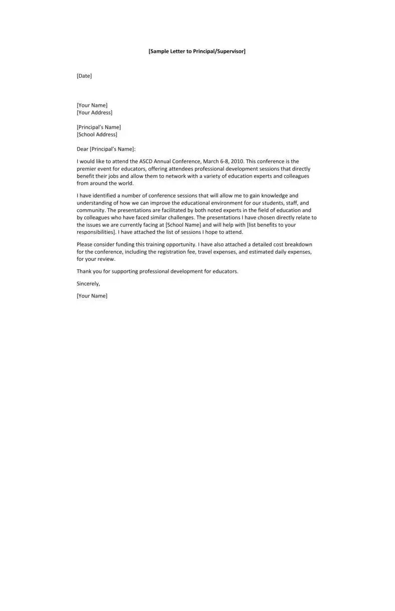 12 Request Letter To A Principal Templates PDF Free