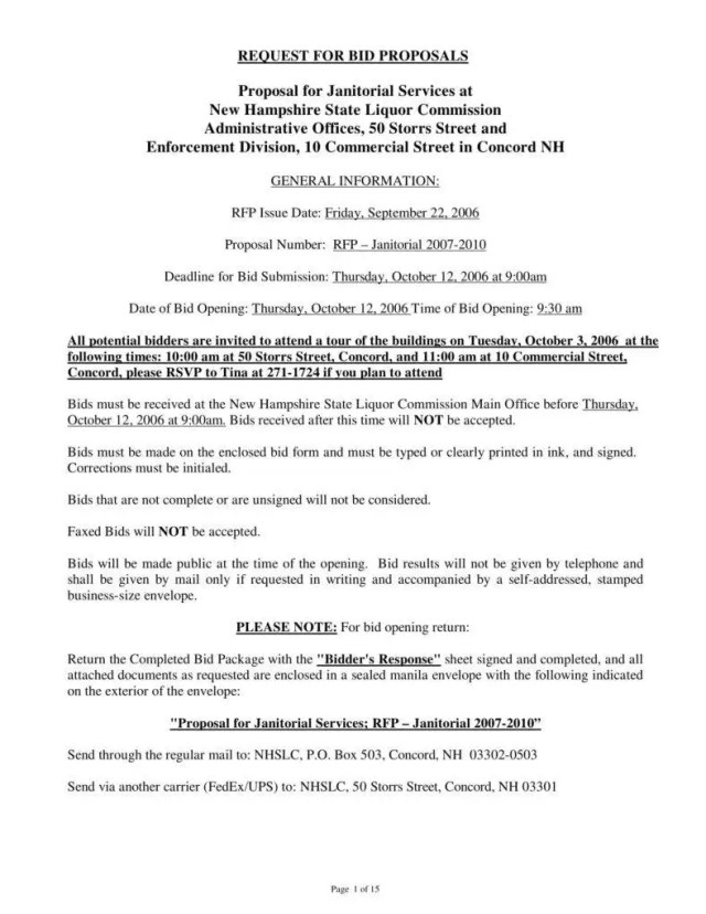 12+ Janitorial Services Proposal Templates - PDF, Word  Free