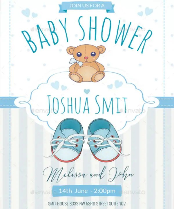 16 Baby Shower Invitation Templates For Boys Psd Ai