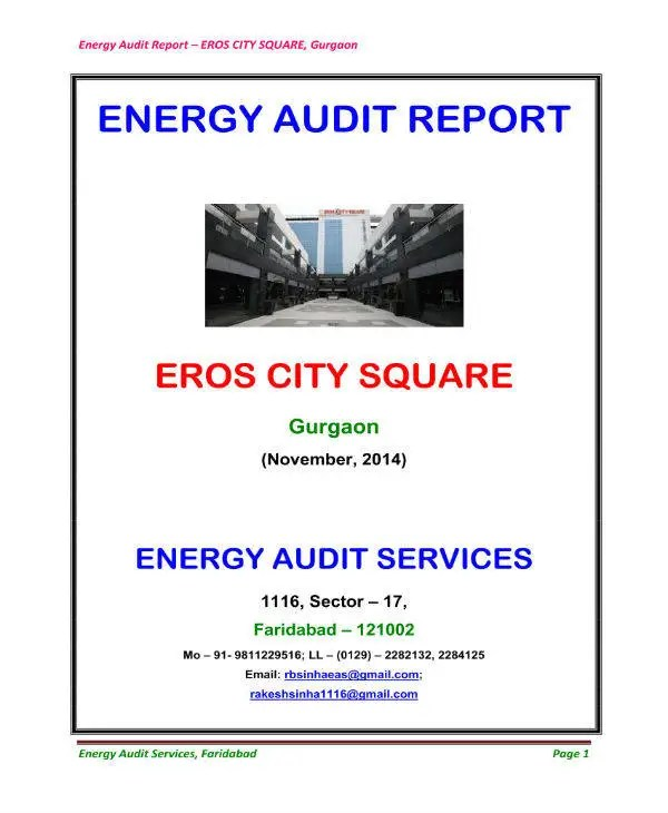 9 Energy Audit Report Templates  PDF  Free  Premium Templates