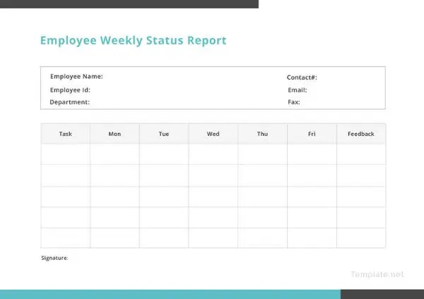 weekly status report template 26 free word documents downloadpost
