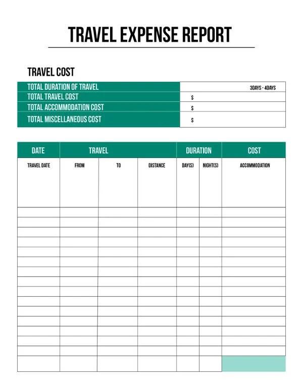 free vehicle expense log template 2001 subaru forester wiring diagram report - 11+ sample, example, format | & premium templates