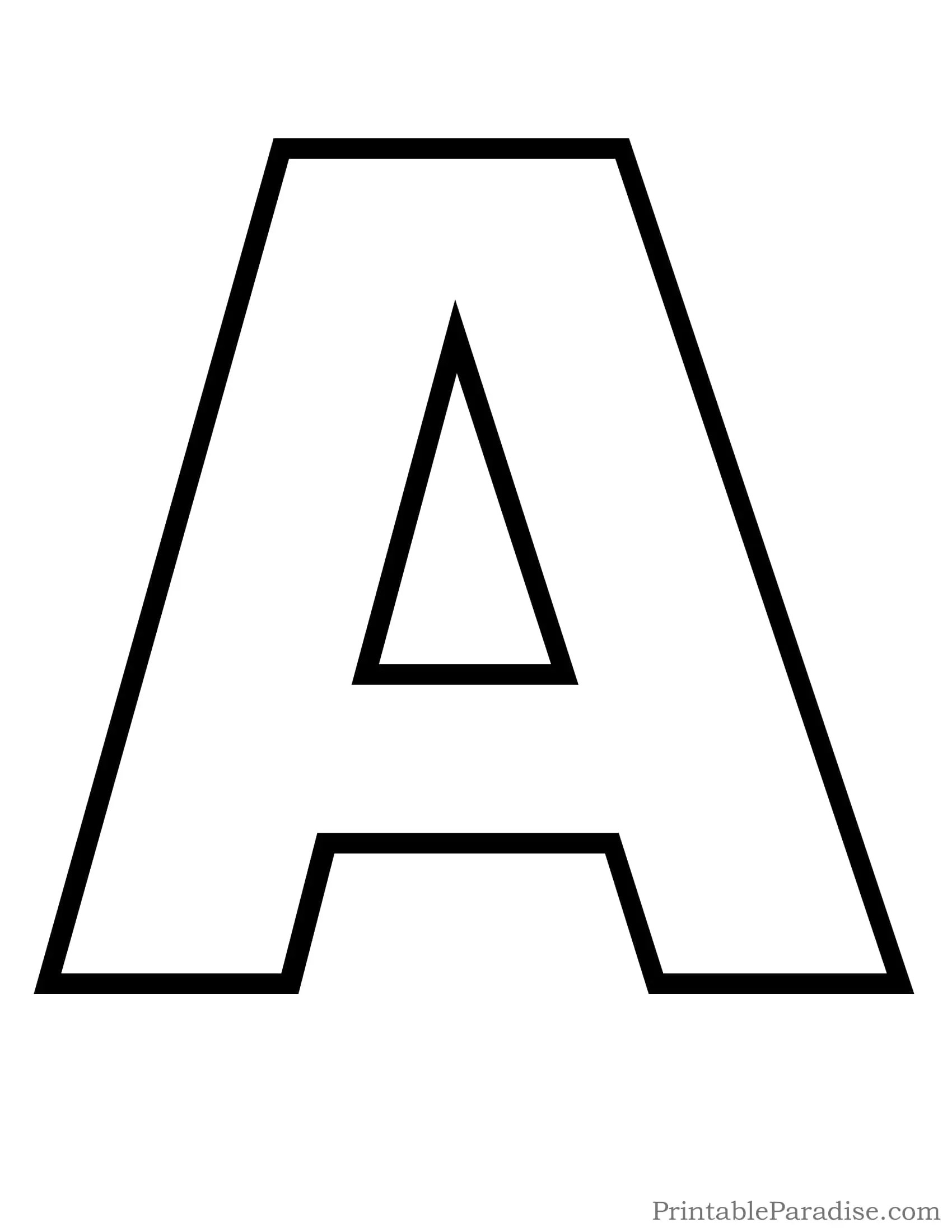 4 Alphabet Outline Templates