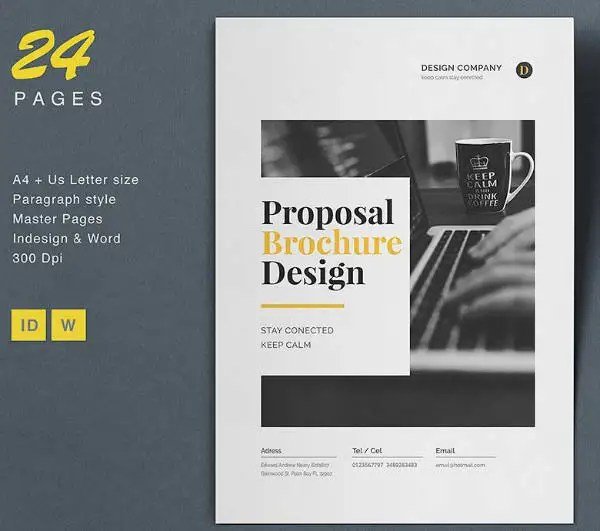 18 Proposal Brochure Designs  Templates  PSD AI