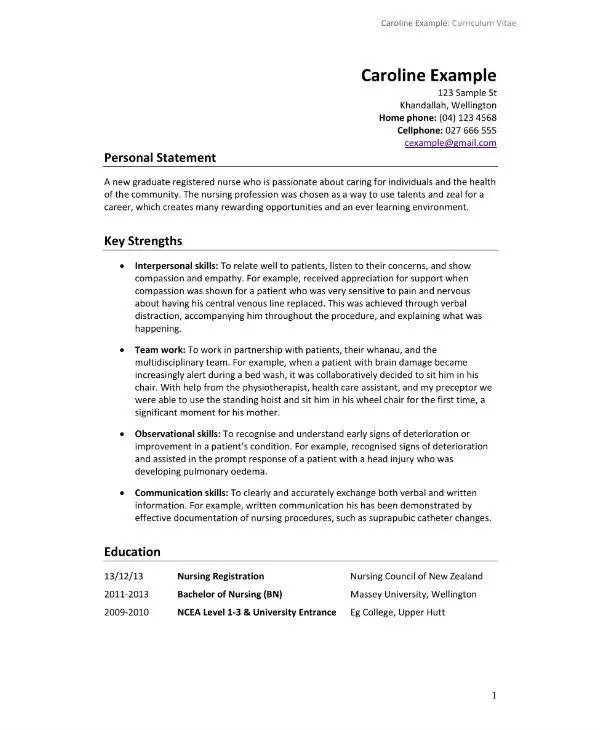 13 Nursing CV Sample  Templates  PDF PSD AI DOC
