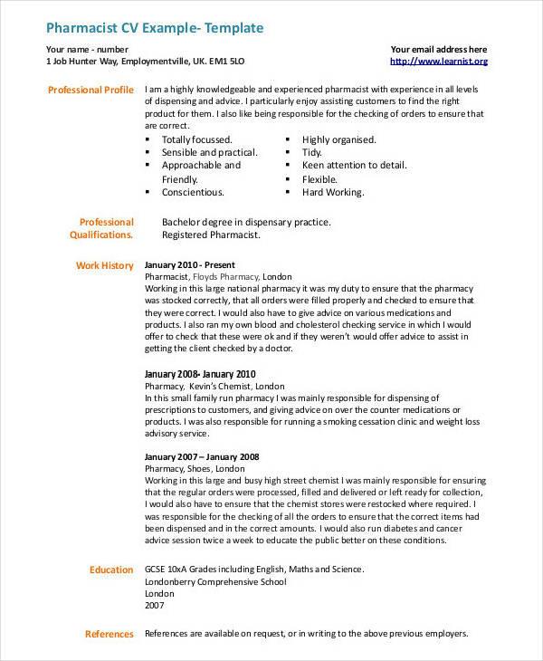 20 CV Examples In PDF Free & Premium Templates