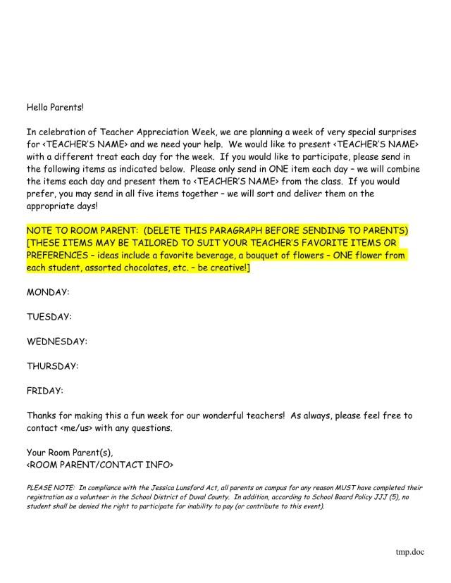 7+ Teacher Appreciation Letter Templates - PDF, DOC  Free