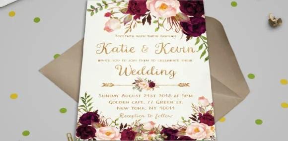 31 Wedding Invitation Designs Templates Psd Ai Free
