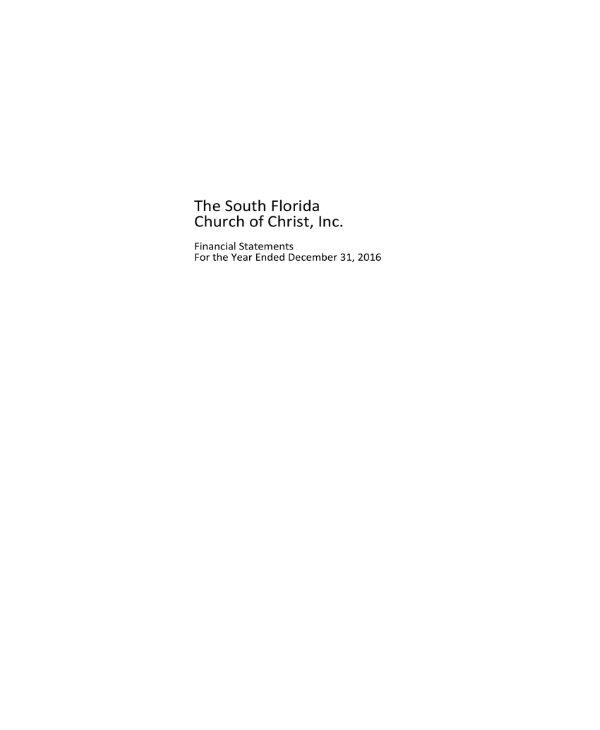 church financial statements template