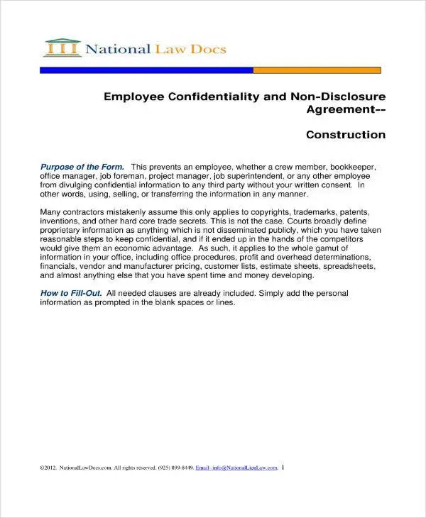 10+ Employee Confidentiality Agreement Templates - PDF   Free ...