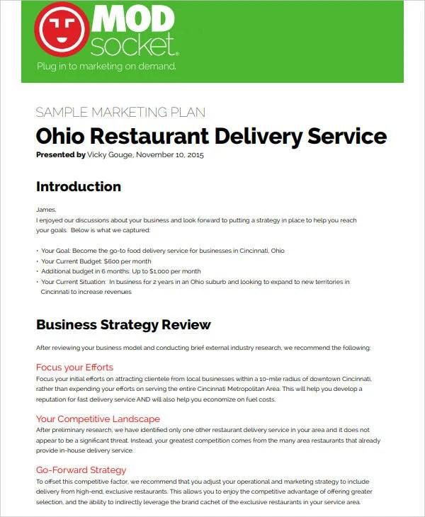 8+ Restaurant Social Media Marketing Plan - PDF   Free & Premium Templates
