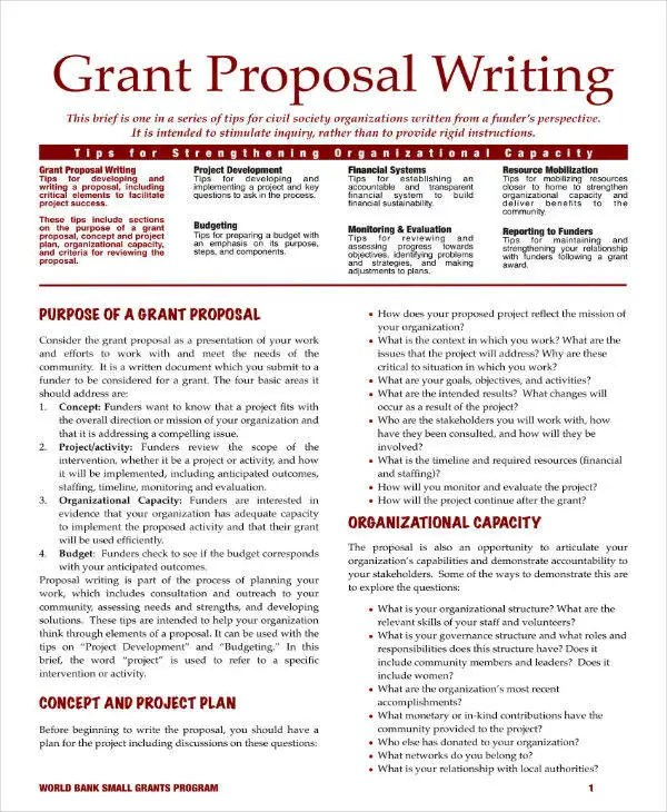 11 Grant Proposal Outline Templates PDF PSD Word InDesign