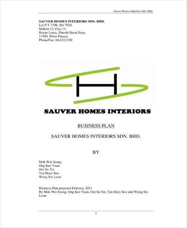 11+ Interior Design Business Plan Templates - PDF   Free & Premium Templates