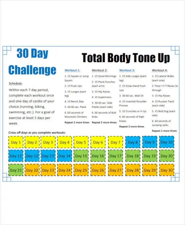 9 30 day workout